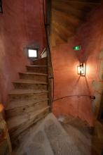 escalier à vis du 16ème siècle Les Maisons du Pont à Aubusson